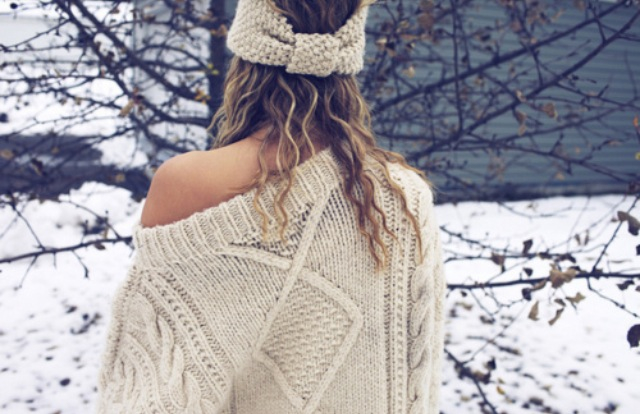 wintery ivory sweater