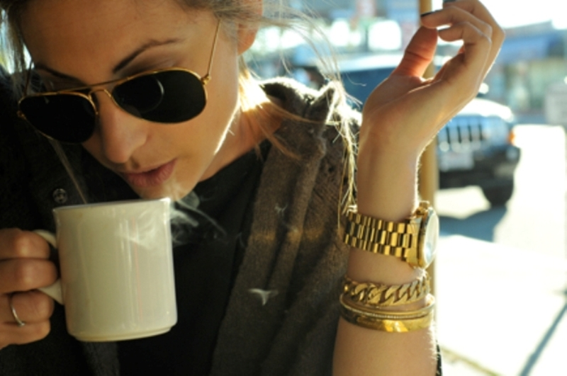 Aviators and coffee